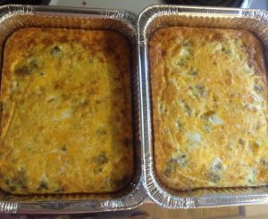 These breakfast casseroles are now in my freezer for easy breakfast options when Charlie arrives in a couple of weeks.